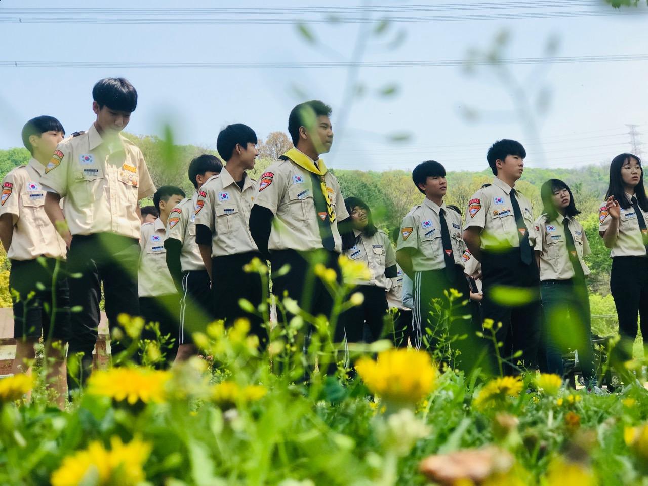 패스파인더 활동-텐트 치기